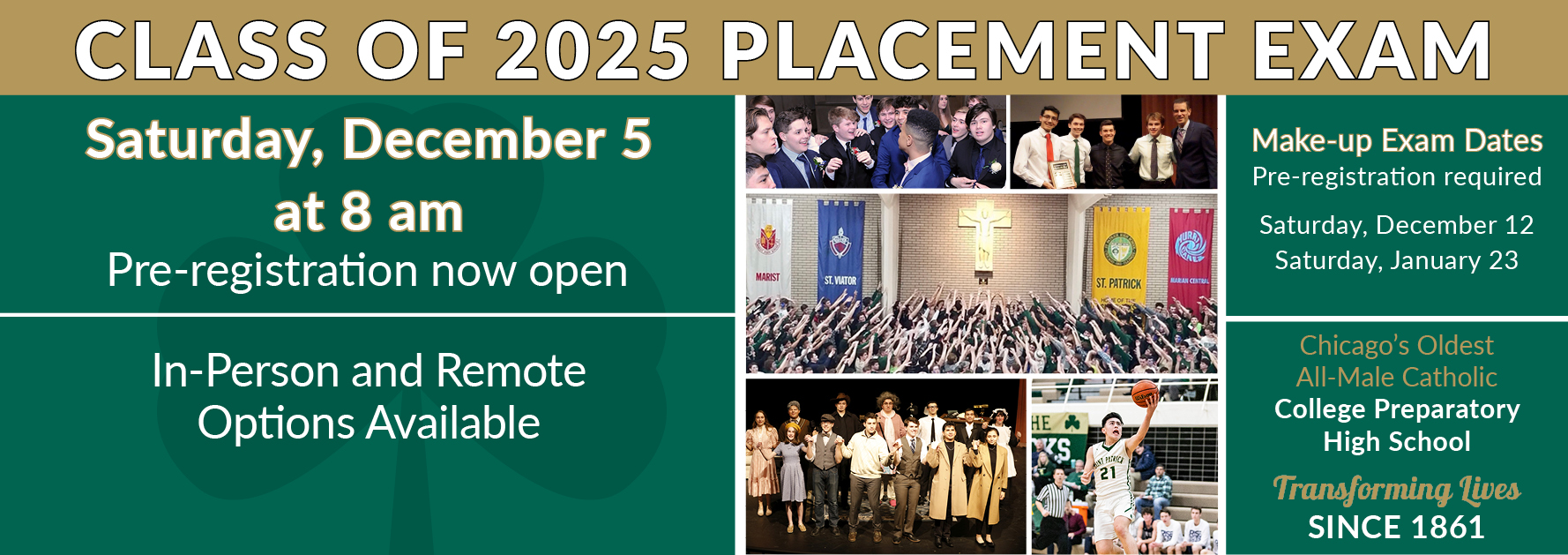 Placement Exam Home Page Banner