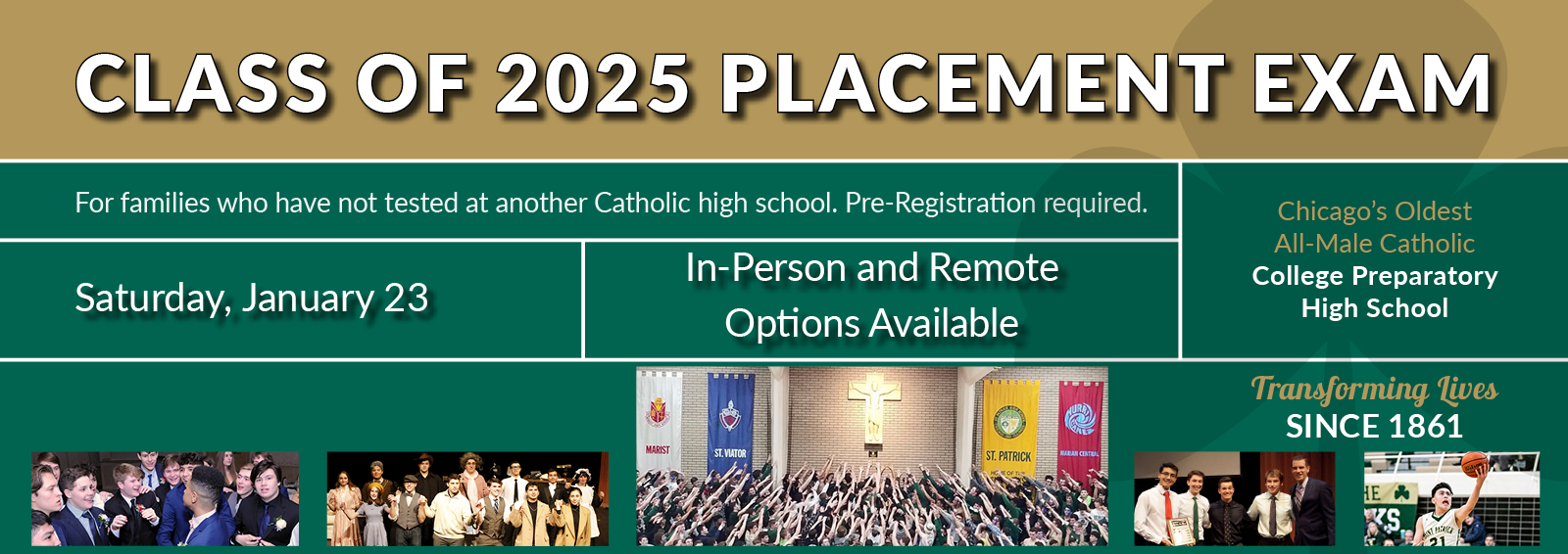 Placement Exam MakeUp One Date Home Page Banner